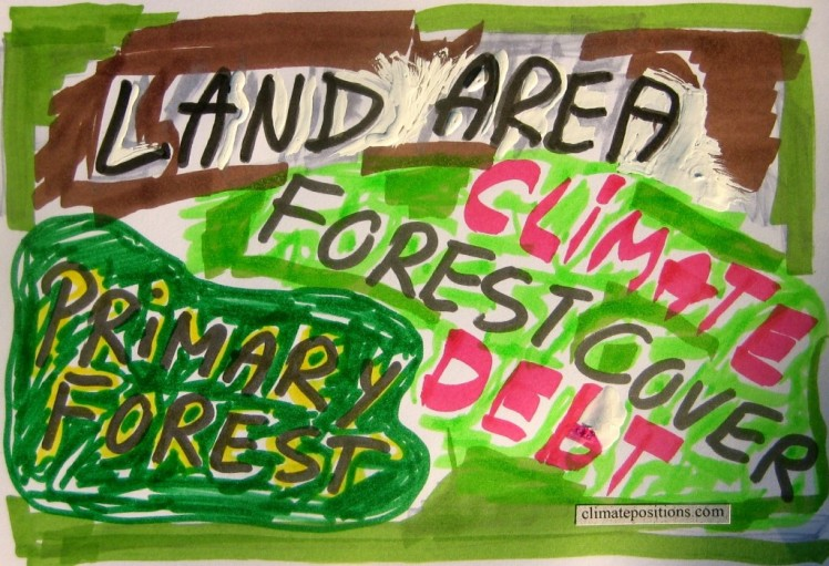 Forest Cover, Primary Forests and climate debt