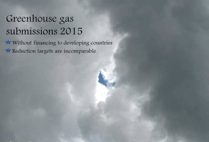 Greenhouse gas submissions of the United States, the European Union and Russia, by March 2015