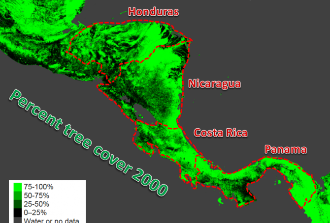 Climate change performance of Panama, Honduras, Costa Rica and Nicaragua