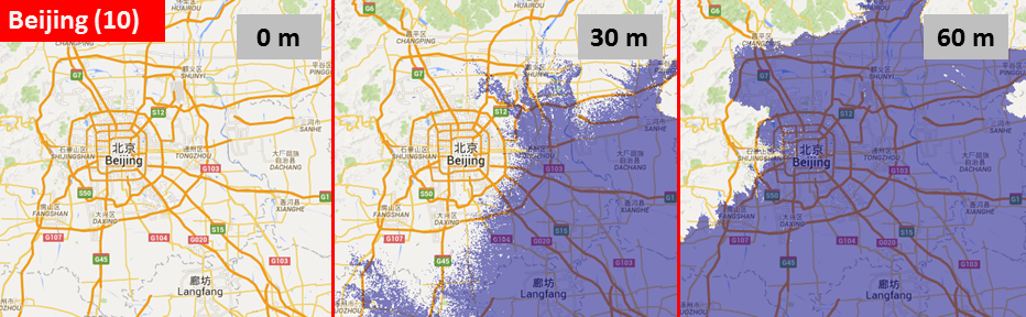 Sea level, Beijing