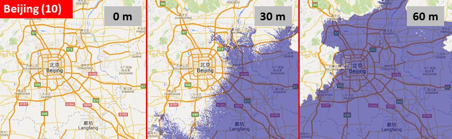 Sea level, Beijing