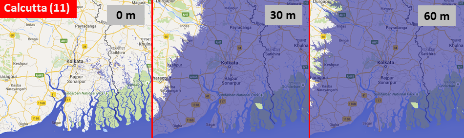 Sea level, Calcutta