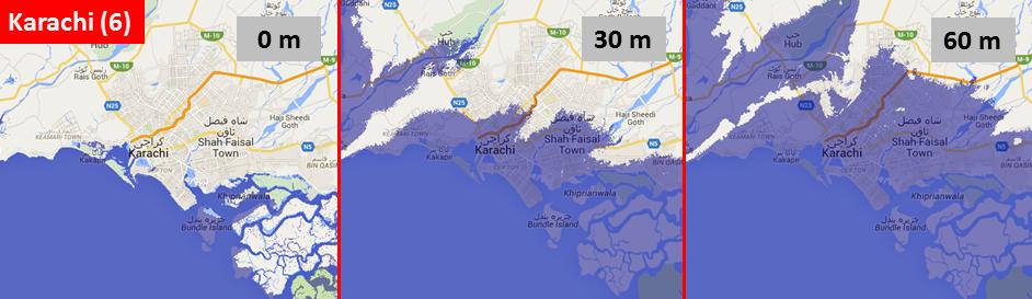 Sea level, Karachi
