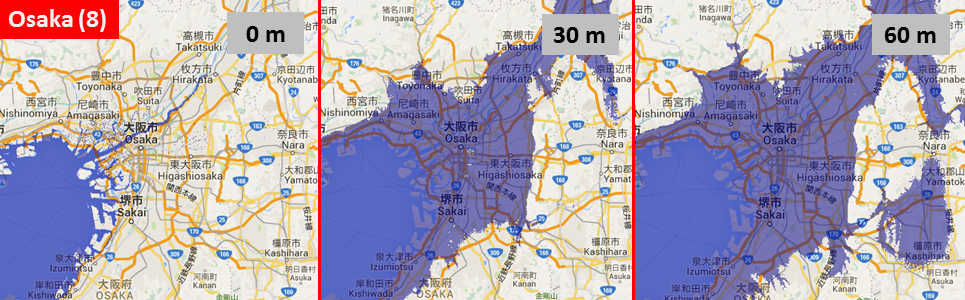 Sea level, Osaka