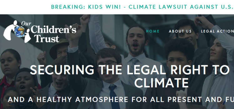 Climate change lawsuit against the government of the United States (Our Children's Trust)