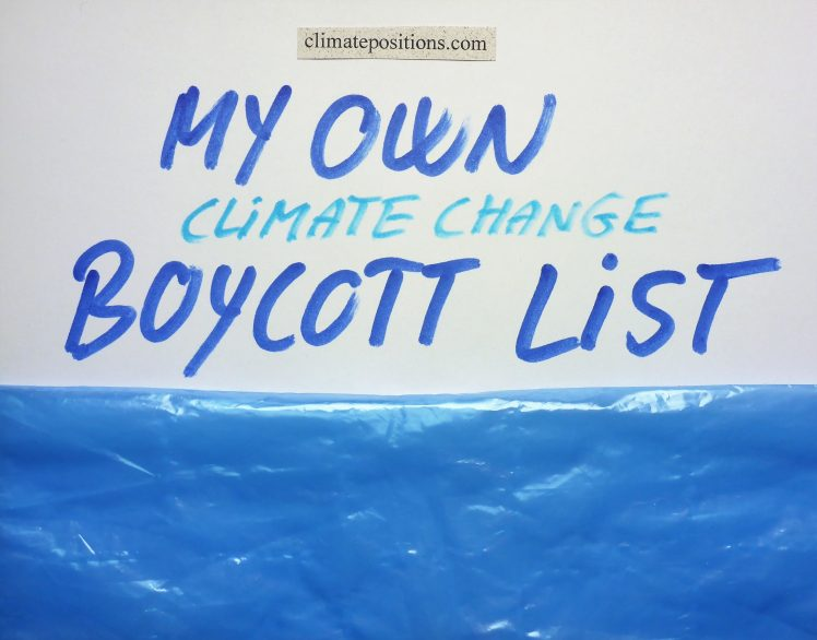 My own climate change boycott country-list