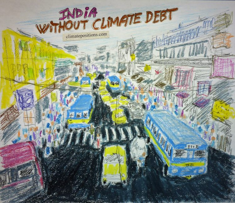 India – per capita Fossil CO2 Emissions (without Climate Debt)