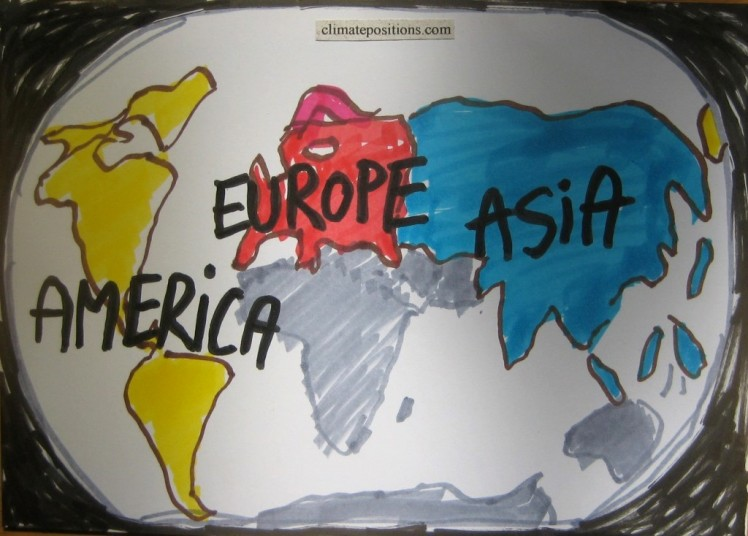 Climate performance of Asia, the Americas and Europe