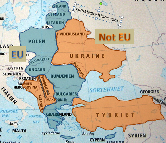 """European Union """"east"""" compared to bordering countries"""