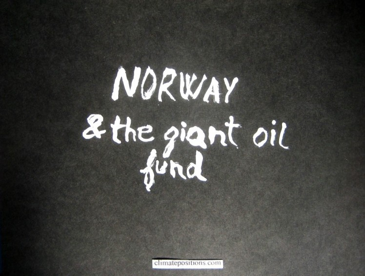 Climate change performance of Norway (and the giant oil fund)