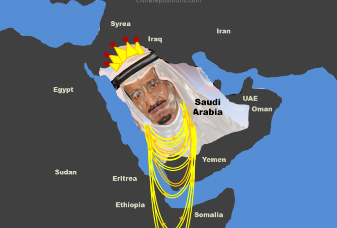 Saudi Arabia's climate destruction proceeds (bankruptcy is a ship on the horizon, though)