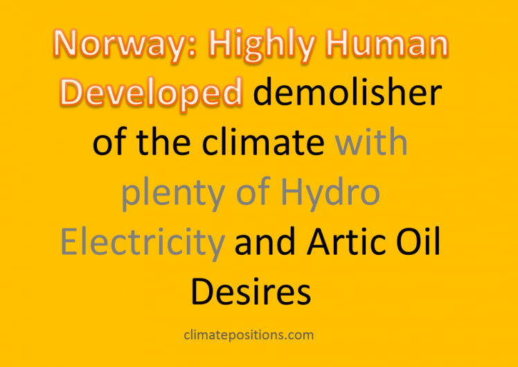 Climate Debt: Norway ranks 9th (performance of top twenty from Human Development Index)