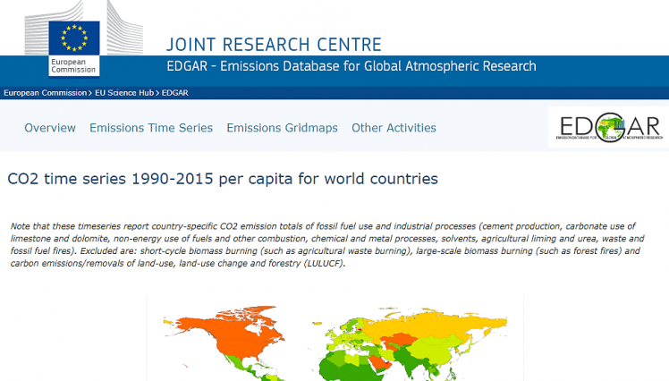 ClimatePositions has been updated with Fossil CO2 Emissions data from EDGAR