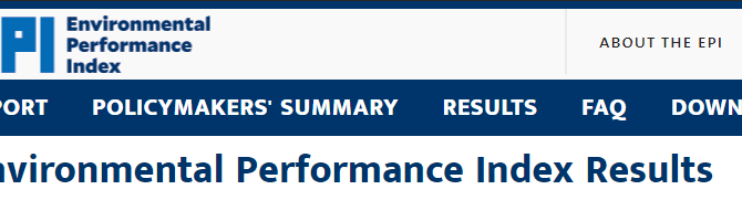 Indicator update: Environmental Performance Index 2018