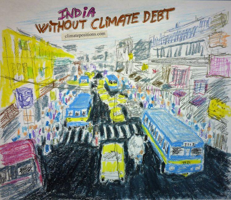India – per capita Fossil CO2 Emissions (zero Climate Debt)